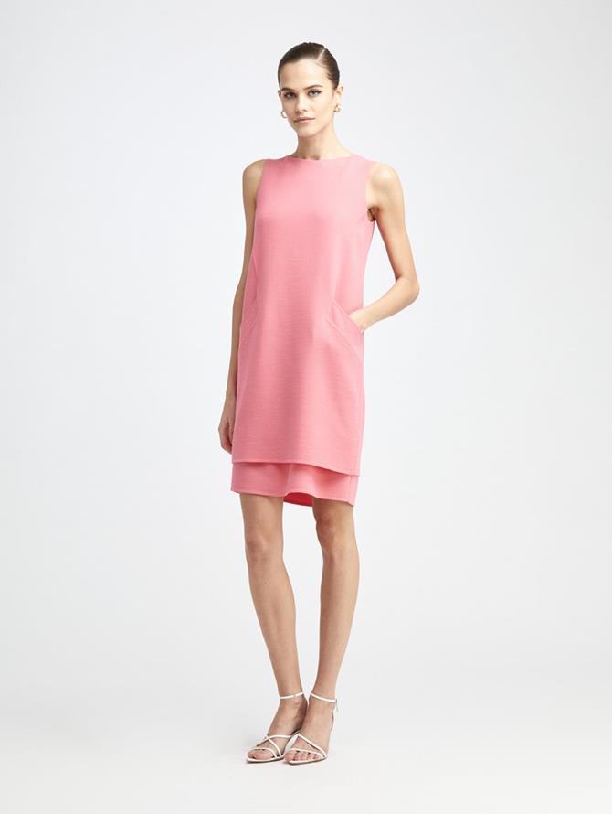 Stretch Wool Pocket Day Dress
