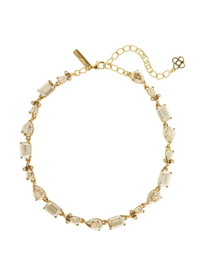 Classic Crystal Necklace Gold