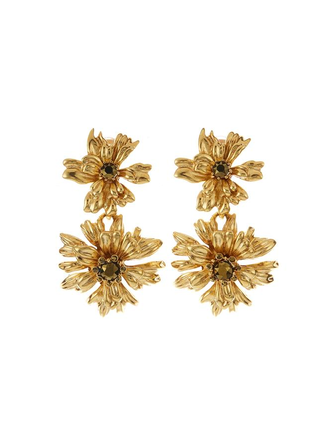 Classic Crystal Flower Drop Earring