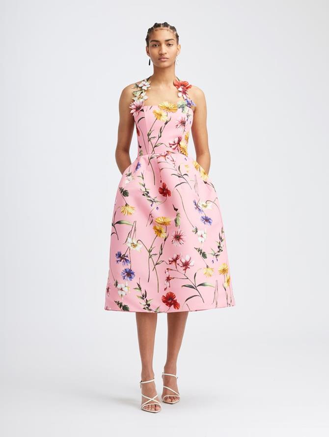 Fiore Faille Halter Dress