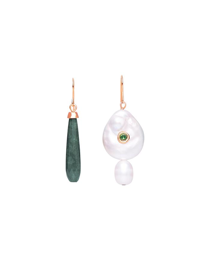 Pearl & Jade Drop Earrings