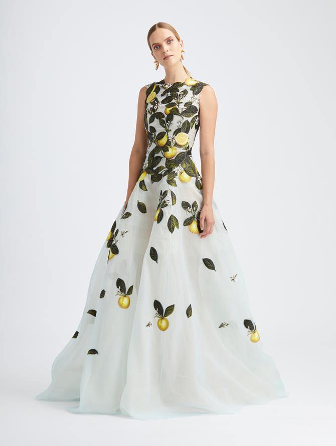 Citrus Primavera Fil Coupé Gown