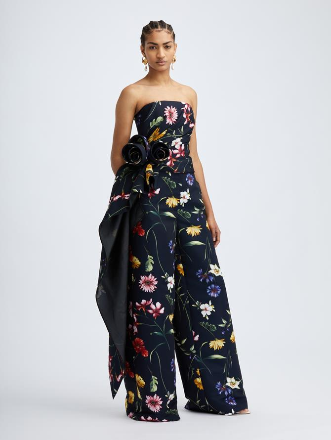 Navy Fiore Wide Leg Pant
