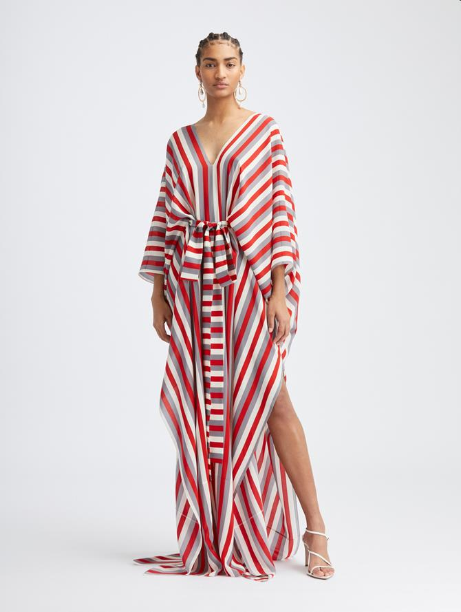 Silk Stripe Caftan