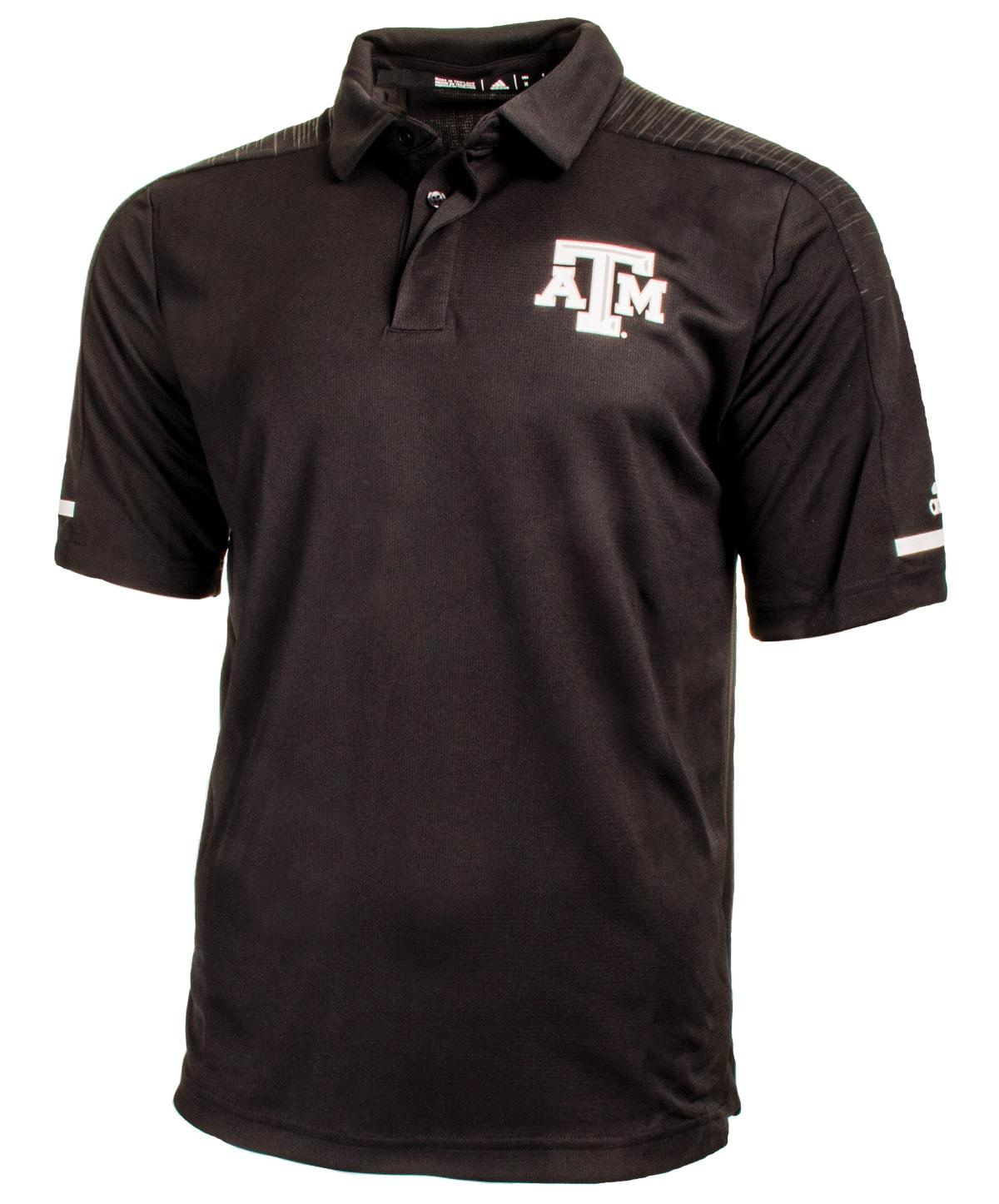 Adidas Texas Am Aggie Team Coaches Polo Black Aggieland Outfitters