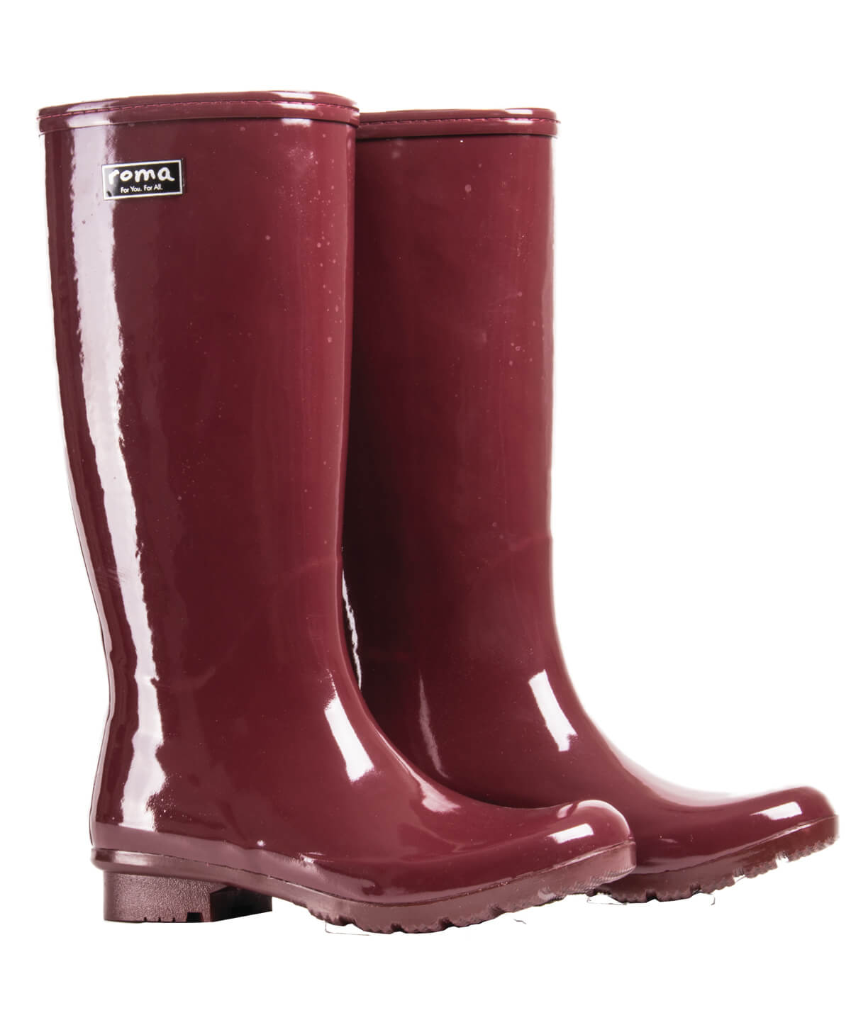 74f49b123 These comfy maroon rain boots are the perfect solution to your rainy day  woes! Lined with a quick drying cotton lining