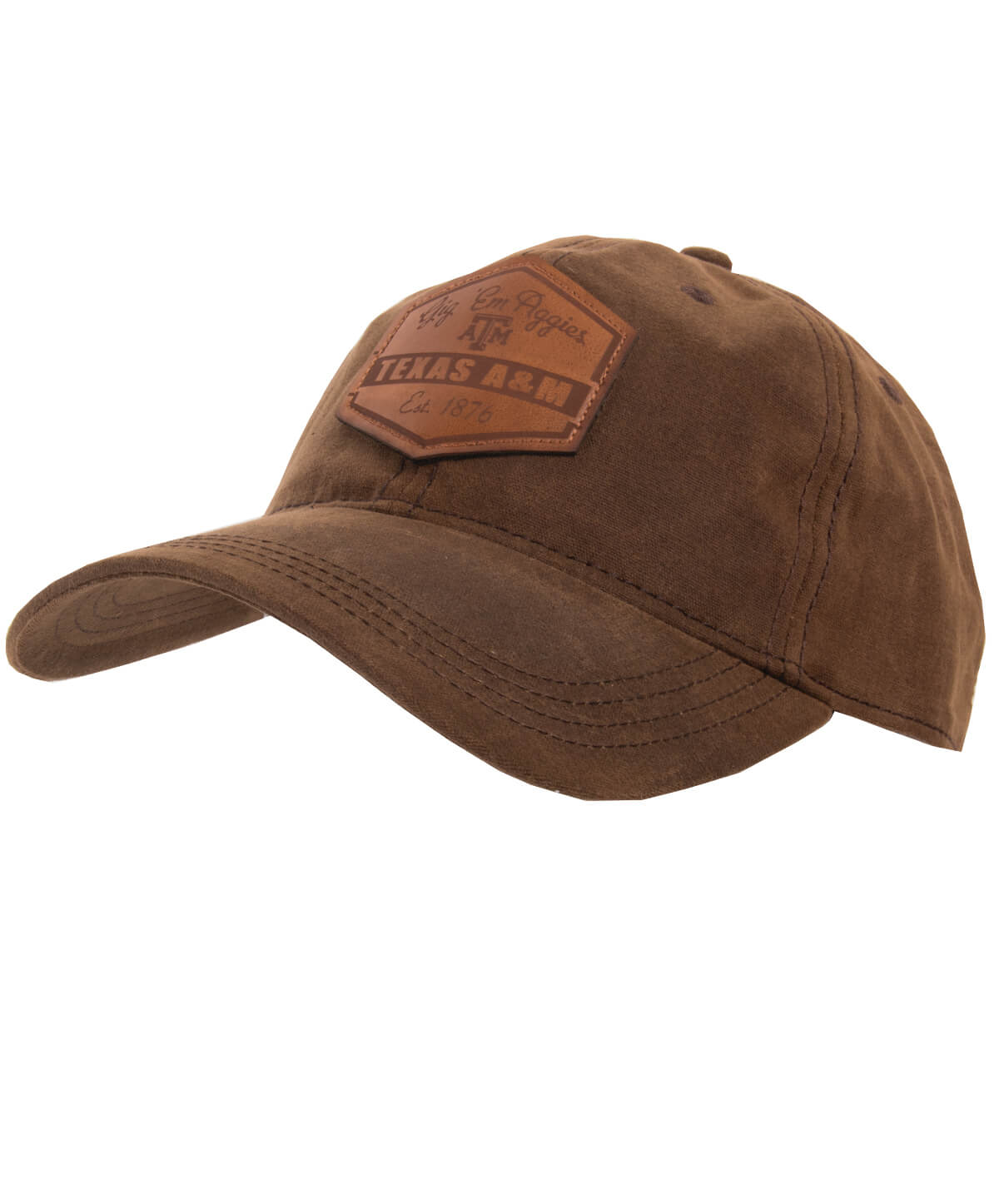 090a1f68294 This Legacy dark brown waxed cotton Texas A M cap is the perfect cap for  those Aggies that one to show off their school spirit in a more alternative  way!