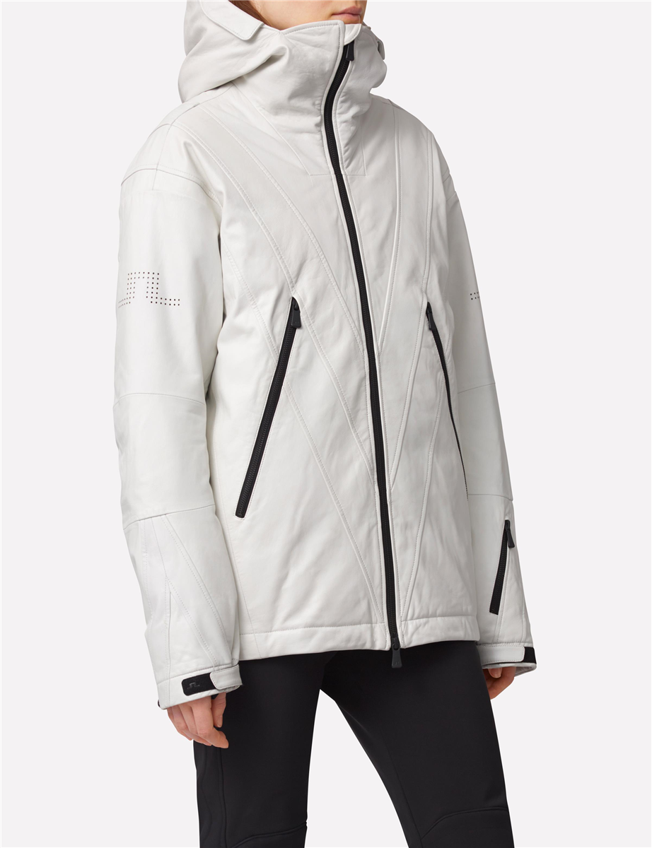 989efc2b2d62 Exclusive leather ski jacket with a boxy silhouette